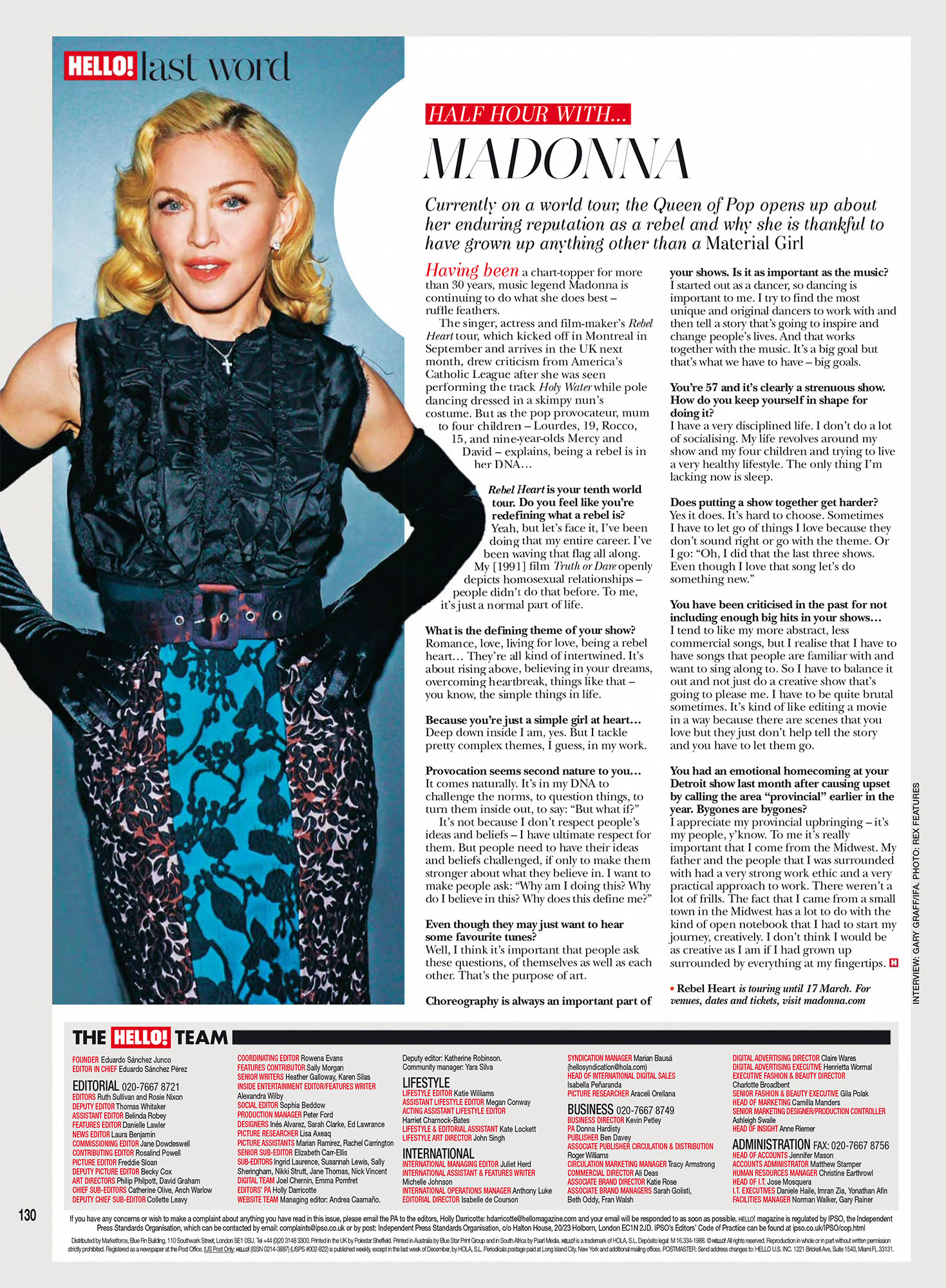 intervista hello magazine