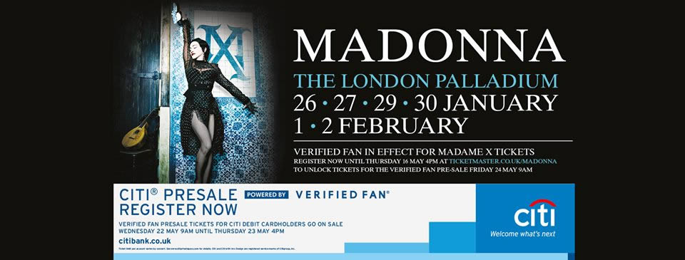 Madame X World Tour_Londra
