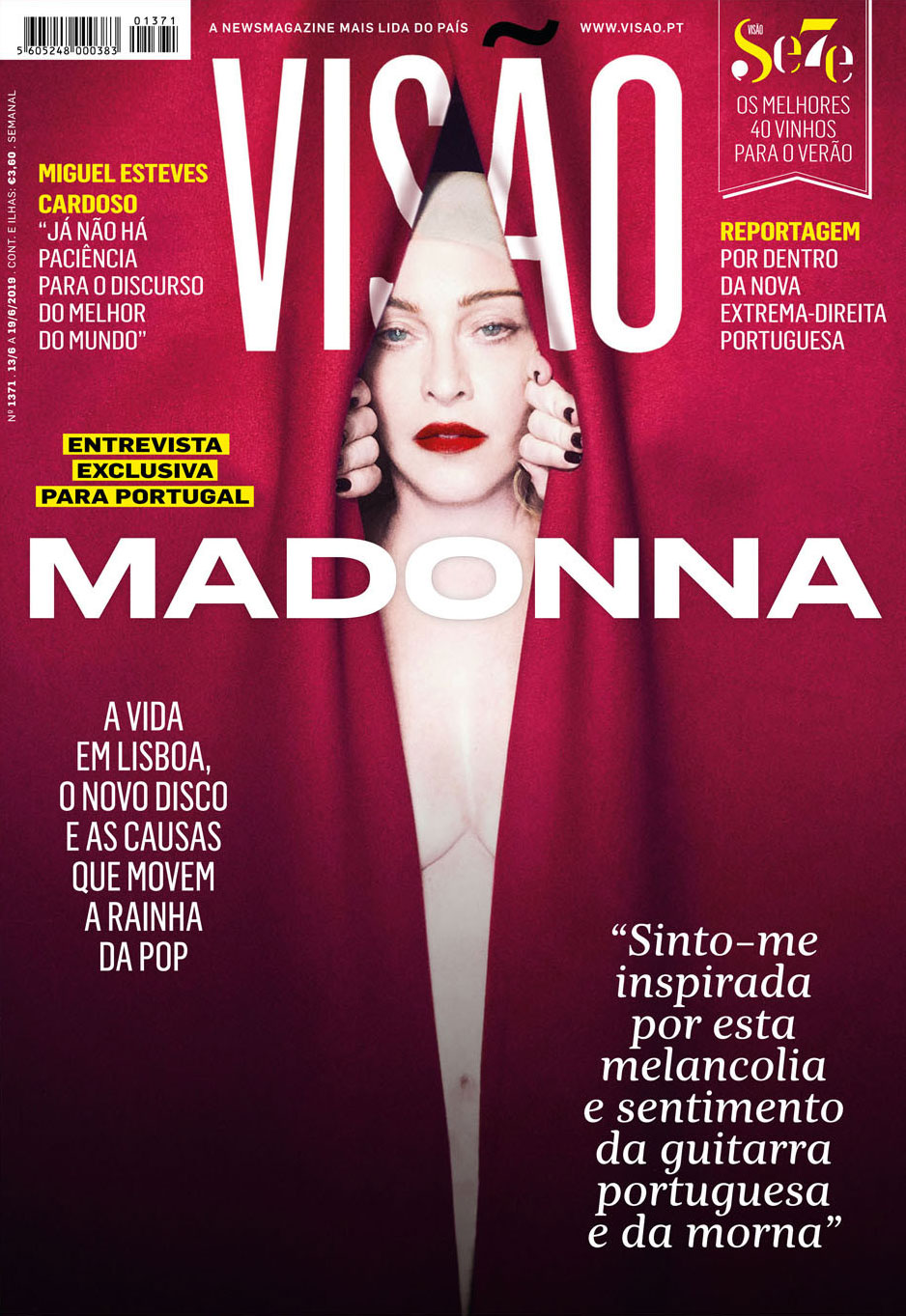 madonna magazine portoghese visao